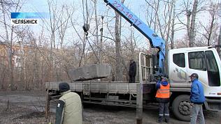 В Челябинске демонтируют нелегальные парковки