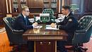 Алексей Текслер провел рабочую встречу с председателем Контрольно-счетной палаты региона Алексеем Лошкиным
