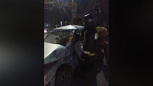 Тройная авария в центре Троицка. ВИДЕО