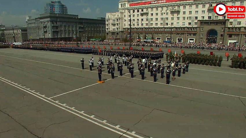 В Челябинске проходит парад Победы