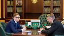 Алексей Текслер провел рабочую встречу с Дмитрием Вяткиным