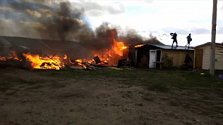 Сильнейший пожар произошел на территории музея-заповедника «Аркаим» в эти выходные
