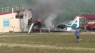 Пассажирский самолет в Бурятии загорелся при экстренной посадке