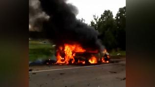 В Сосновском районе мужчина скончался в горящей машине