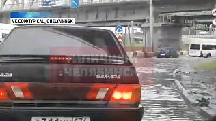 Челябинск встал в огромных пробках