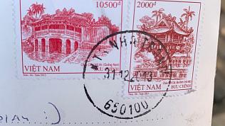 Открытка из Вьетнама в Магнитогорск шла шесть лет