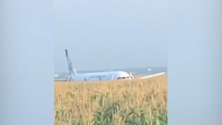 Очевидцы рассказали о том, что происходило внутри самолёта. ВИДЕО