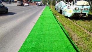 «Украсили ко дню города»: ковры вместо газонов постелили в Челябинской области