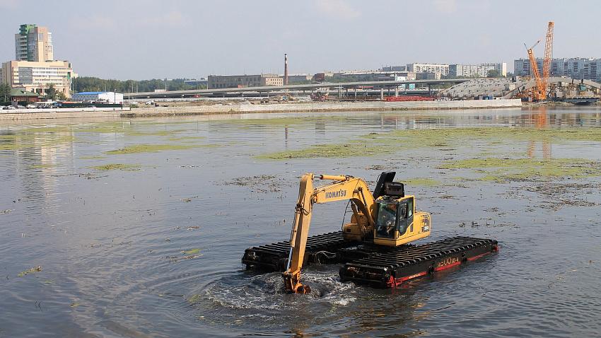 Очистку реки Миасс планируют закончить к первому ноября