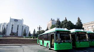 Десять новых экологичных автобусов презентовали в Челябинске