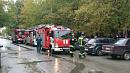 К Челябинскому институту путей и сообщений приехали пожарные машины