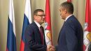 Алексей Текслер встретился с чрезвычайным полномочным послом Узбекистана в России