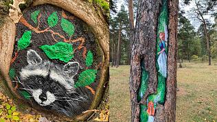 «Мечел» поддержал экоакцию по нанесению граффити на деревья