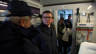 Алексей Текслер посетил заключительную часть учений «Атом-2019»