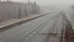 На трассе М-5 затруднено движение из-за снега
