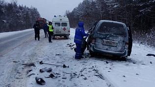 Минивэн врезался в грузовик на трассе в Челябинской области. Есть погибшие и пострадавшие