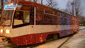 Трамваи и троллейбусы украсили иллюминацией
