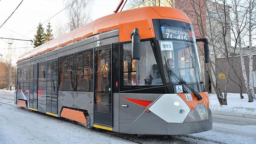 В Челябинске испытают новый низкопольный трамвай