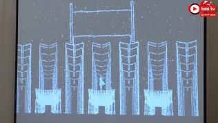 Грандиозное световое шоу на фасаде Драмтеатра