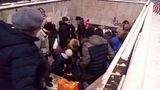 «Упал и потерял сознание»: молодой человек поскользнулся в челябинском подземном переходе