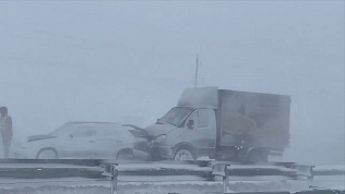 Метель стала причиной массовой аварии на трассе Южноуральск-Магнитогорск