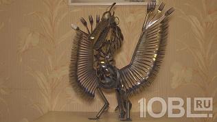 «Стальной пеликан»: челябинец мастерит зверей из столовых приборов