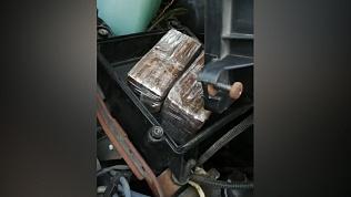 4 килограмма гашиша найдены под капотом