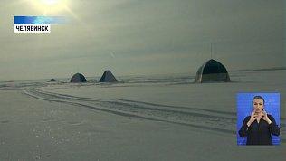 На Шершневском водохранилище МЧС проверяет лед