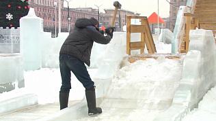 Крушение Ледового городка в центре Челябинска