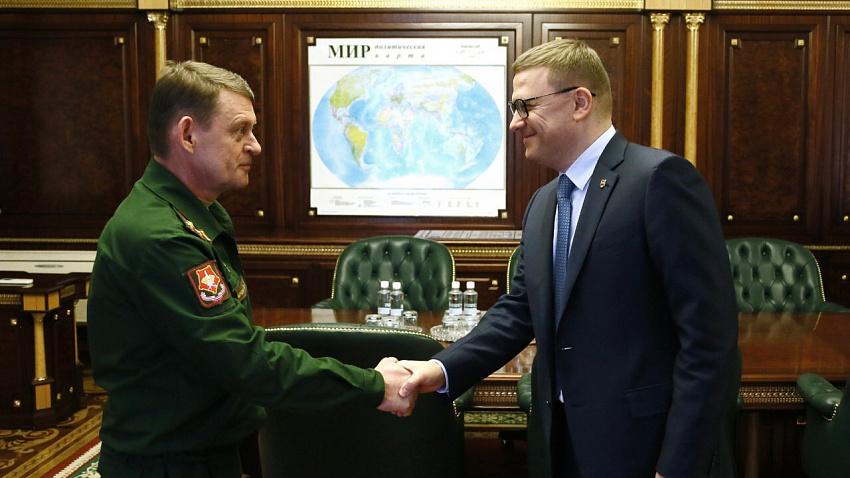 Глава региона встретился с военным комиссаром Челябинской области