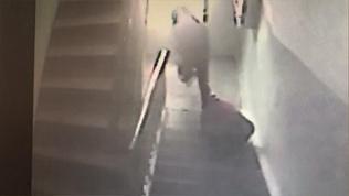 Грабитель нападает на старушку в подъезде