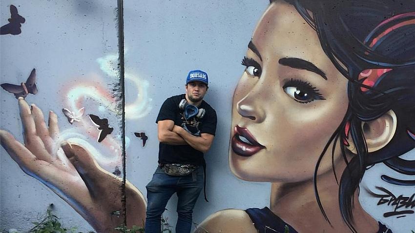 Уличный художник призывает челябинцев не упустить «Культурный код»