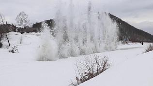 На реке Сим взорвали лёд