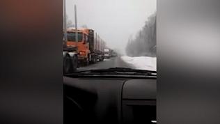 Огромная пробка на трассе М-5