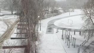 В Челябинской области прошли снегопады