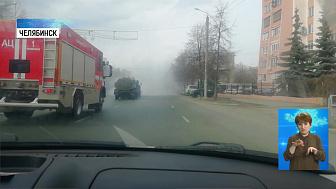 Спецтехника дезинфицирует улицы Челябинска