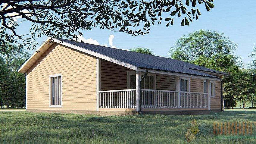 Одноэтажные каркасные дома с террасой