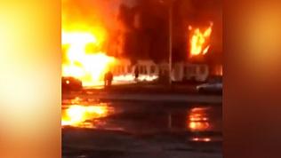 Серьезный пожар на трассе М5 встревожил южноуральцев