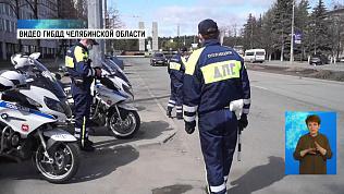 Мотовзвод вышел патрулировать улицы