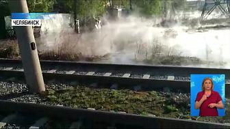В Ленинском районе прорвало трубу с кипятком