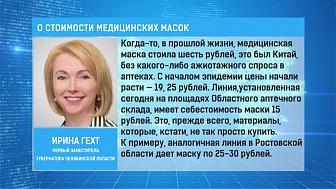 Ирина Гехт объяснила снижение стоимости медицинских масок