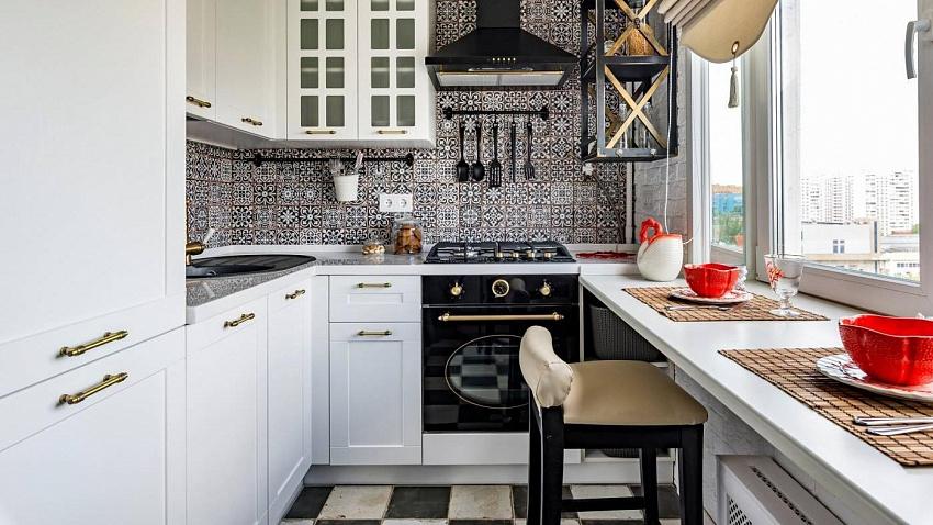 Что и как разместить в маленькой кухне?