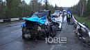 Под Златоустом произошло страшное лобовое столкновение грузовика и кроссовера