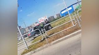 Автомобильная авария в Магнитогорске попала на видео
