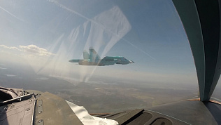 Видео из кабины боевого самолёта