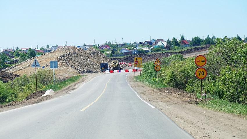 На Южном Урале продолжается реконструкция трассы от Челябинска до села Большие Харлуши