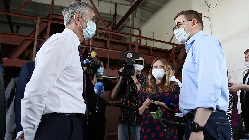 Алексей Текслер устроил разнос за очистные сооружения в Фершампенуазе