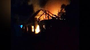 Пожар в Коркино попал на видео