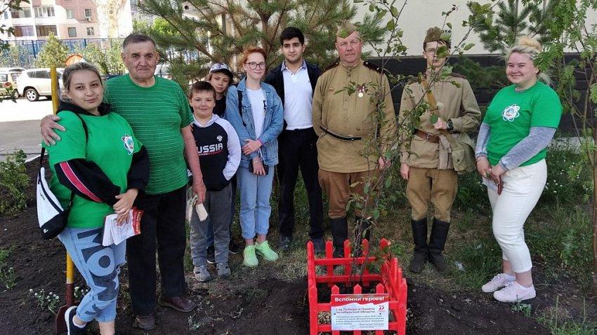 75 яблонь высадили волонтеры в «Саду памяти»