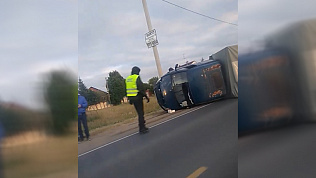 Неадекватный газелист совершил ДТП и попал на видео